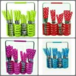 Sendok Polkadot Set 24 pc Stainless Steel
