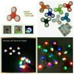 FIDGET SPINNER LAMPU LED SPINER FIJET