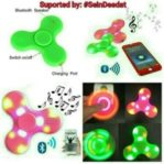 Spinner Lampu Music Speaker Bluetooth