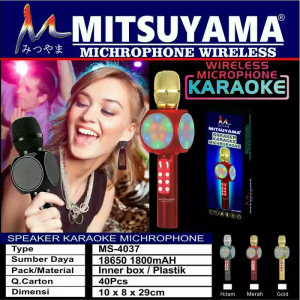Mic Karaoke Bluetooth MS4037 Mitsuyama Speaker MP3
