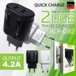 Kepala Charger 4,2A 2 USB Original Army