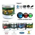 Speaker Bluetooth Mini LED USB Motif Mobil Memory Card