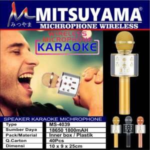 Mic Karaoke Bluetooth Mitsuyama MS4039 Speaker MP3