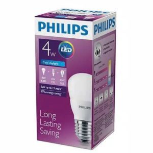 Lampu Bohlam Philips LED 4 Watt Cahaya Putih