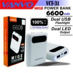 Power Bank Vanvo VCT-31 6600 mAh LCD